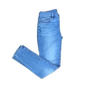 Ann Taylor LOFT Light Wash Curvy Skinny Crop Jeans